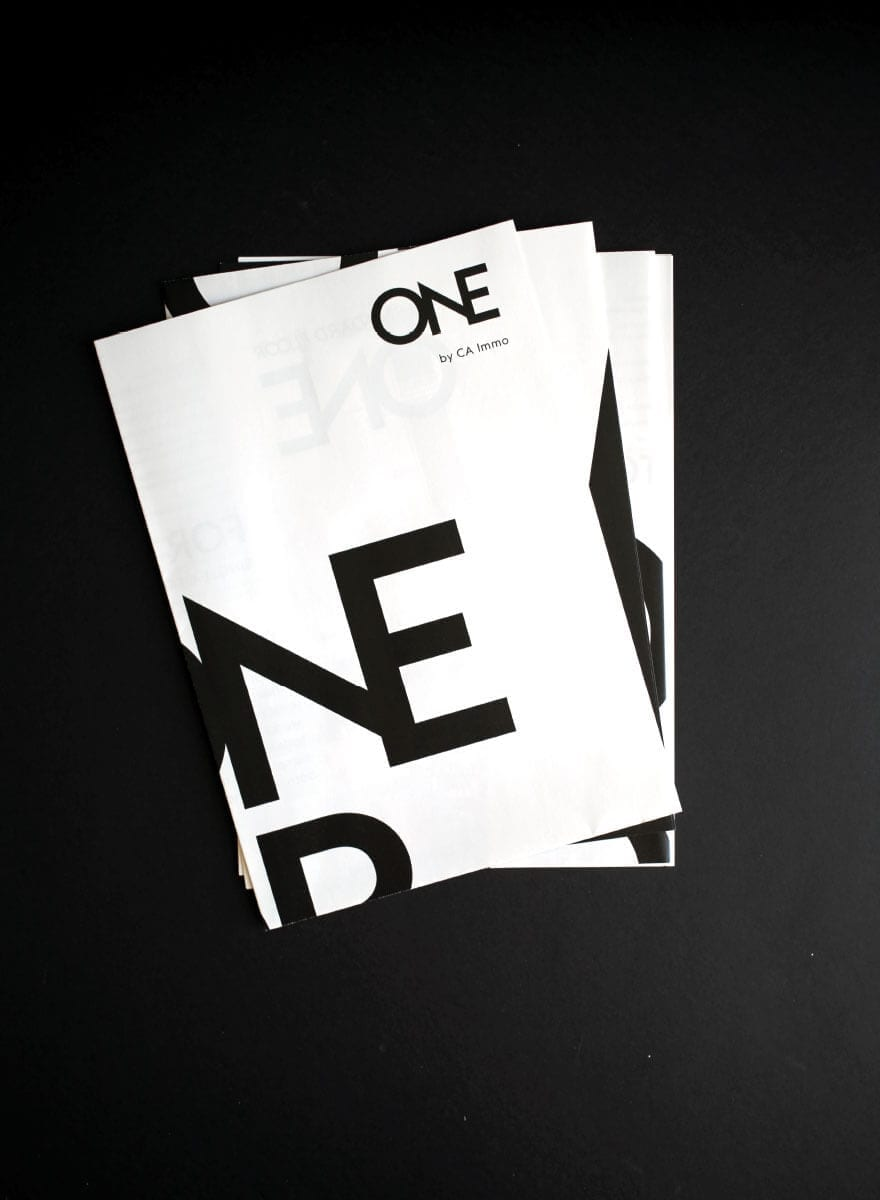 Branding-Kampagne ONE by CA Immo Poster Stapel