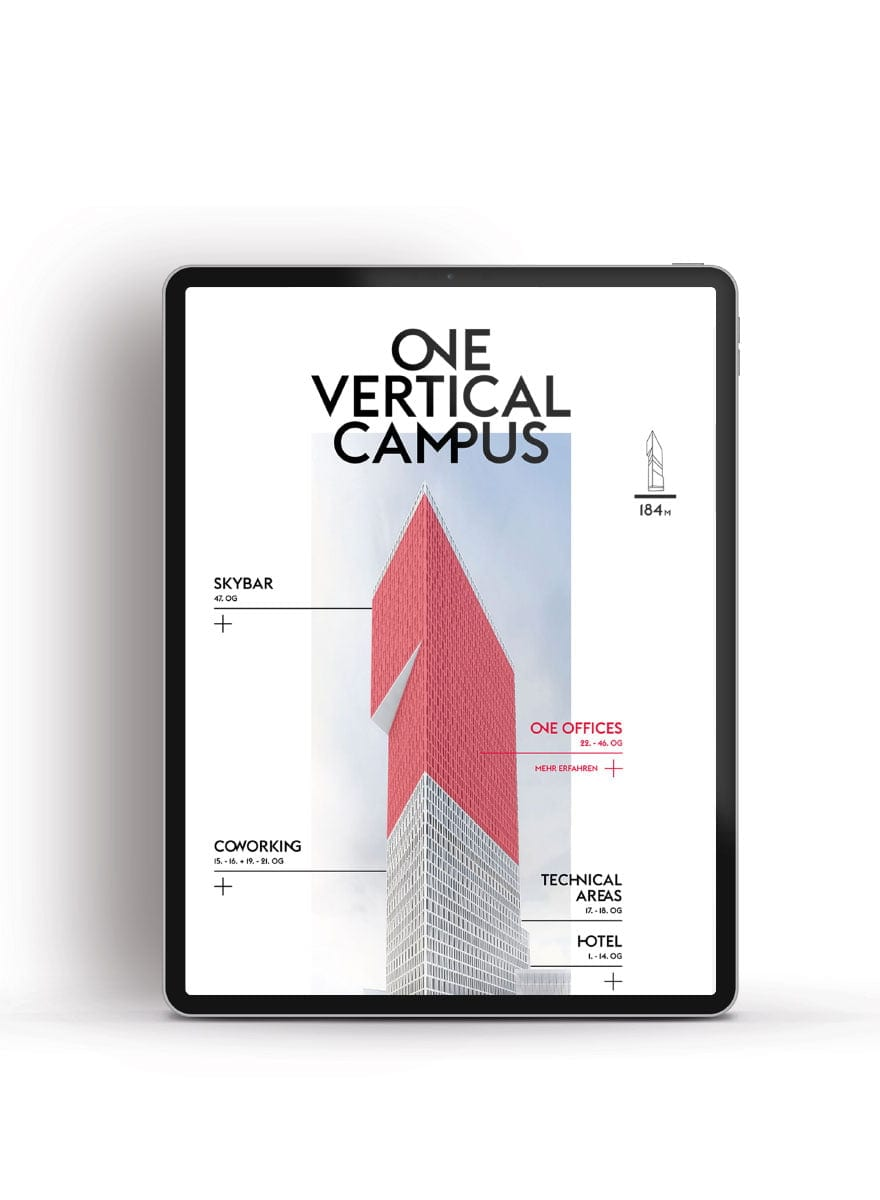 Branding-Kampagne ONE by CA Immo One Vertical Campus